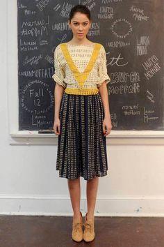 Lauren Moffatt Fall 2012: Mischievous School Girls - Fashionista