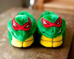 Teenage Mutant Ninja Turtle Slippers.