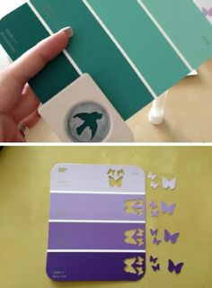 Ombre Paint Chip Design | Cool DIY Scrapbook Ideas You Have To Try