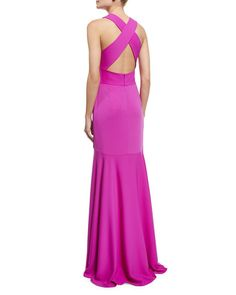 Milly Sleeveless Crisscross-Back Mermaid Gown USD 725.00