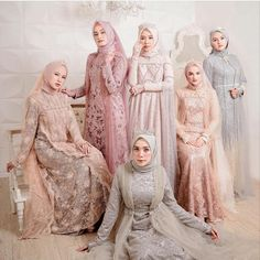 Discover recipes, home ideas, style inspiration and other ideas to try. Dress Brukat, Kebaya Dress, Dress Pesta, Dress Outfits, The Dress, Kebaya Modern Hijab, Modern Hijab Fashion, Abaya Fashion, Muslim Fashion