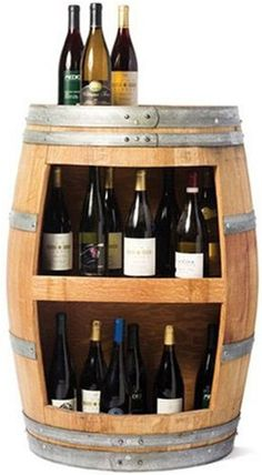 Wine Barrel Wall Cabinet Wine Rack | California Vines