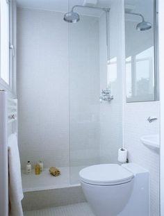1x1 mosaic tile + rainshower head faucet