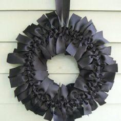 I adore this ribbon wreath!