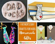 50+ Father's Day Crafts for Kids: Homemade Gifts | Don't know what to give Dad for Father's Day? Make him a homemade gift!