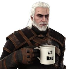 tfw geralt will never sit you on his lap and give you fatherly advice as he takes a sip from his mug full of pipin' hot thunderbolt Dad Geralt The Witcher Geralt, Geralt Of Rivia, Stanley Parable, Human Fall Flat, The Witcher Game, Little Big Planet, Shovel Knight, Fall Flats, Night In The Wood
