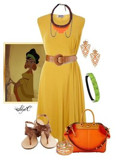 """Chicha - Disney's Emperor's New Groove"" by rubytyra ❤ liked on Polyvore featuring Kilian Kerner Senses, Lauren Ralph Lauren, Fiona Paxton, Blu Bijoux, Dooney & Bourke, First People First, women's clothing, women, female and woman"