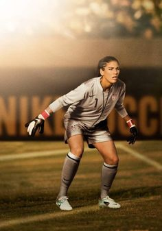 Hope Solo...Dahlia wants to be a goalie, I will let her read Solo's book once she can read better.  Great book.