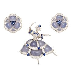 VAN CLEEF & ARPELS Ballerina Pin and Earclips