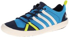 new product 67561 bb1b7 adidas Outdoor Unisex Climacool Boat Lace Water Shoe, Solar Blue Chalk White Colonel  Navy, 11 M US