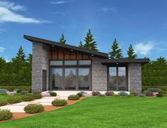 Exclusive Tiny Modern House Plan with Alternate Exteriors - 85137MS | 1st Floor Master Suite, CAD Available, Exclusive, Modern, Northwest, PDF, Tiny House | Architectural Designs