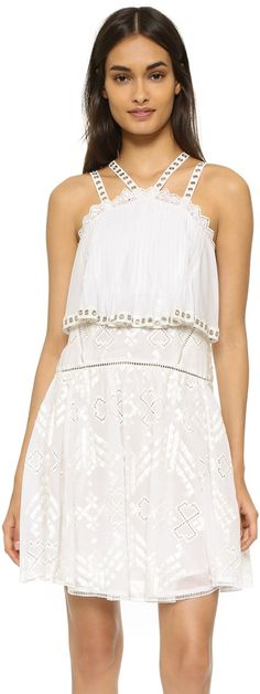 Rebecca Taylor Sleeveless Embroidered Cami Dress