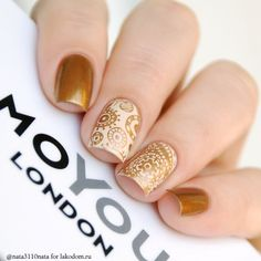 Plate for steaming MoYou London Doodles 06 - buy in the LakoDom online shop Source by richtrv Perfect Nails, Gorgeous Nails, Fabulous Nails, Pretty Nails, Fancy Nails, Love Nails, Bronze Nails, Golden Nails, Nailed It