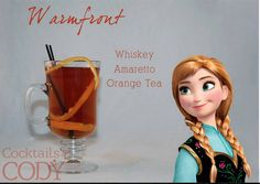 35 Yummy Disney Cocktails You Need To Drink Right Away Disney Cocktails, Tea Cocktails, Party Drinks, Fun Drinks, Yummy Drinks, Alcoholic Drinks, Cocktail Recipes, Orange Tea, Alcohol Drink Recipes