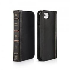 An iPhone / 5 case and wallet all rolled into one with a unique book style in black. - Twelve South BookBook Case for iPhone / 5 - Black Iphone 5s, Iphone 5 Cases, Apple Iphone 5, Best Iphone, Coque Iphone, Iphone Wallet, Smartphone, Gadgets, Buch Design