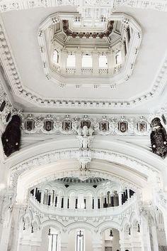 amazing architecture and interior design Architecture Cool, Classical Architecture, Historical Architecture, Minecraft Architecture, Beautiful Buildings, Beautiful Places, Architecture Classique, Shades Of White, Interior Exterior