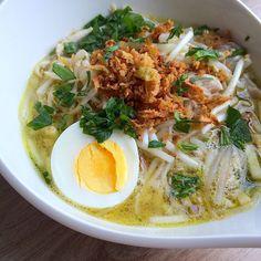 Recept voor Surinaamse saoto soep.