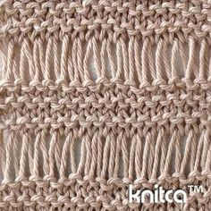 Wrong side of knitting stitch pattern – Drop Stitch 1 : www.knitca.com