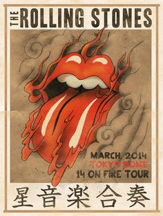The Rolling Stones | 14 On Fire - Gig Poster