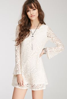 Lace Shift Dress   FOREVER21 - 2000099048
