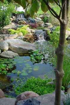 Awesome 43 Great Backyard Pond Waterfall Ideas https://gardenmagz.com/43-great-backyard-pond-waterfall-ideas/