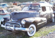 1947 buick harse | 1947 Buick Roadmaster Flxible hearse front left view for sale $7,500