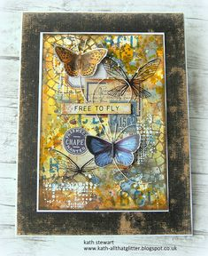 Kath's Blog......diary of the everyday life of a crafter: Simon Says - Sprays and Splashes Art Journal Pages, Art Journals, Journal Ideas, White Gouache, Simon Says Stamp Blog, Mixed Media Cards, Distressed Texture, Ranger Ink, Distress Oxides