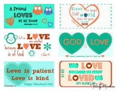 "You are going to love these! Aren't they cute? What a great way to share God's love with your friends and family! These Valentine's Day printables are perfect for stapling on top of a treat bag full of your favorite candy. I've also attached back labels with ""to"" and ""from"" spaces so you can easily make these for your child's Valentine's Day party. http://www.priorityministries.com/christian-womens-blog/2014/01/30/valentines-day-printable-with-scriptures-plus/ #Printable…"