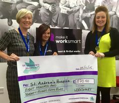 The ladies from Worksmart participated in the Great Scottish Run 2015 in aid of St. Andrew's Hospice. #makeitworksmart #charity #fundraising
