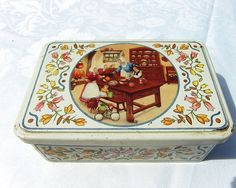 French vintage tin box from Brittany