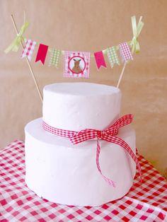 Girlanda na tort.
