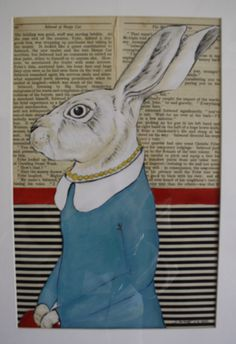 Mixed Media,acrylic paint fabric and old book pages 20 x 30cm available to order from ju.arnott@gmail.com