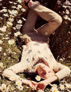 Eva Herzigova models romantic styles for Elle Italia August 2015 by David Burton [Fashion]