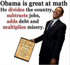 Obama is great at math...