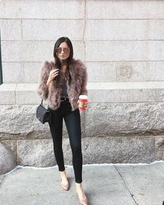 「Speaking in my old professor Romano's class today at FIT at 4pm (room D211), come say hi! Tap for outfit creds」WeWoreWhat waysify