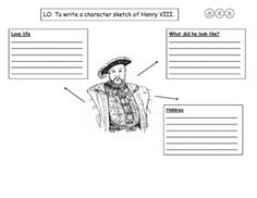 tudor menu template - henry viii templates henry viii template and worksheets