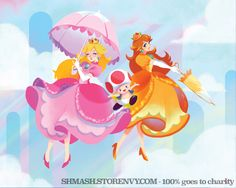 """Peach & Daisy"" by Kelly Nguyen"