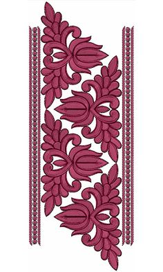 Border Embroidery Designs, Lace Embroidery, Machine Embroidery Designs, Embroidery Patterns, Textile Patterns, Textiles, Saree Border, Rangoli Designs, Pattern Art
