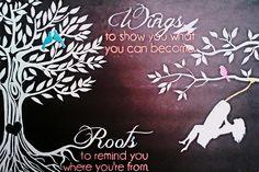 Acrylic Painting Wings & Roots - IG @ nayeli.ochoa.509