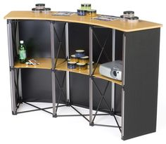 Pop Up Counter | Simple to Setup, Includes Inner Shelving, Great for trade shows or other presentations!