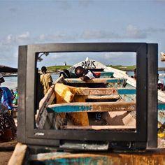 Dreaming of Paris (detail) Telebi by Mouhamadou Sow. #Telebi #MouhammadouSow #Dakar #Senegal #Paris #contemporaryart by lagosphotofestival