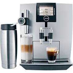 Jura IMPRESSA J9 One Touch Espresso & Cappuccino Maker ($3,000) ❤ liked on Polyvore featuring home, kitchen & dining, small appliances, espresso milk frother, latte espresso maker, espresso cappuccino maker, rotary grinder and cappuccino frother