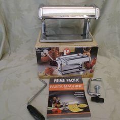 """Pasta Machine Prime Pacific 180mm (7"""")  PPD002 with Box Spaghetti Linguine Pasta #PrimePacific"""