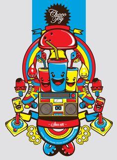 ChocoToy's illustration -Dulces & Juguetes