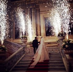When you can't hide your excitement, why not celebrate it! :) Sparkler Wedding