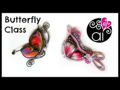 M Craft Corner Special | Butterfly Class | Corso Paste Polimeriche Wire e Soutache | RM 15 Marzo - YouTube