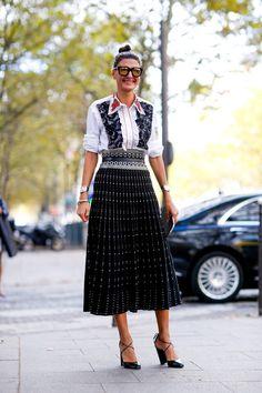 Moda uliczna na Tygodniu Mody w Paryżu - Vumag