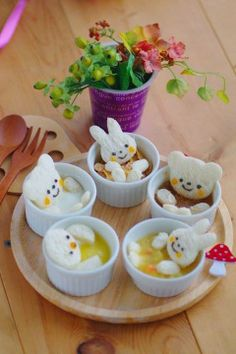 cute baby food characters