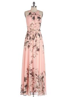 Fete of Florists Dress. Since you spend most of your days toiling over intricate floral sculptures, you welcome an opportunity to relax and celebrate with your colleagues at your biannual party, which you attend in this pink floral maxi dress!