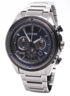 Citizen Mens Eco Drive Titanium Chronograph Watch - In Stock, Free Next Day Delivery, Our Price: Buy Online Now Stylish Watches, Cool Watches, Watches For Men, Citizen Eco, Citizen Watch, Casio Watch, Chronograph, Omega Watch, Stuff To Buy